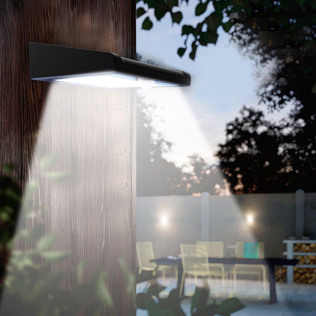 2 Pack 30 LED Solar Lights Outdoor, Avaspot【Upgraded Version】Solar Powered Security Light, Wireless Waterproof Motion Sensor Solar Light, Outdoor Wall Light for Patio, Deck, Garden, Garage by Avaspot