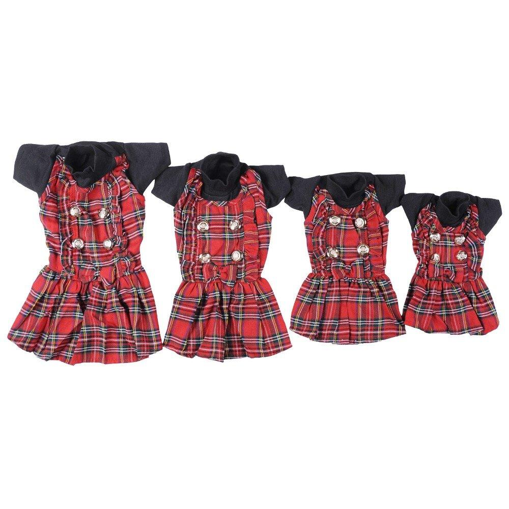 Black S Black S Sciotex(TM) Dog & Cat Scottish Lace Skirt Winter Clothing 100% Cotton Warm Coat Pet Clothes Accessories Supplier 1 Pieces DY448