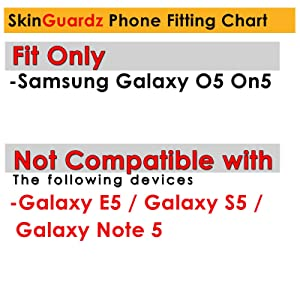 [Skinguardz] Black/Black Tough Case [Kick Stand] ShockProof Armor - Original for Samsung Galaxy [On5]