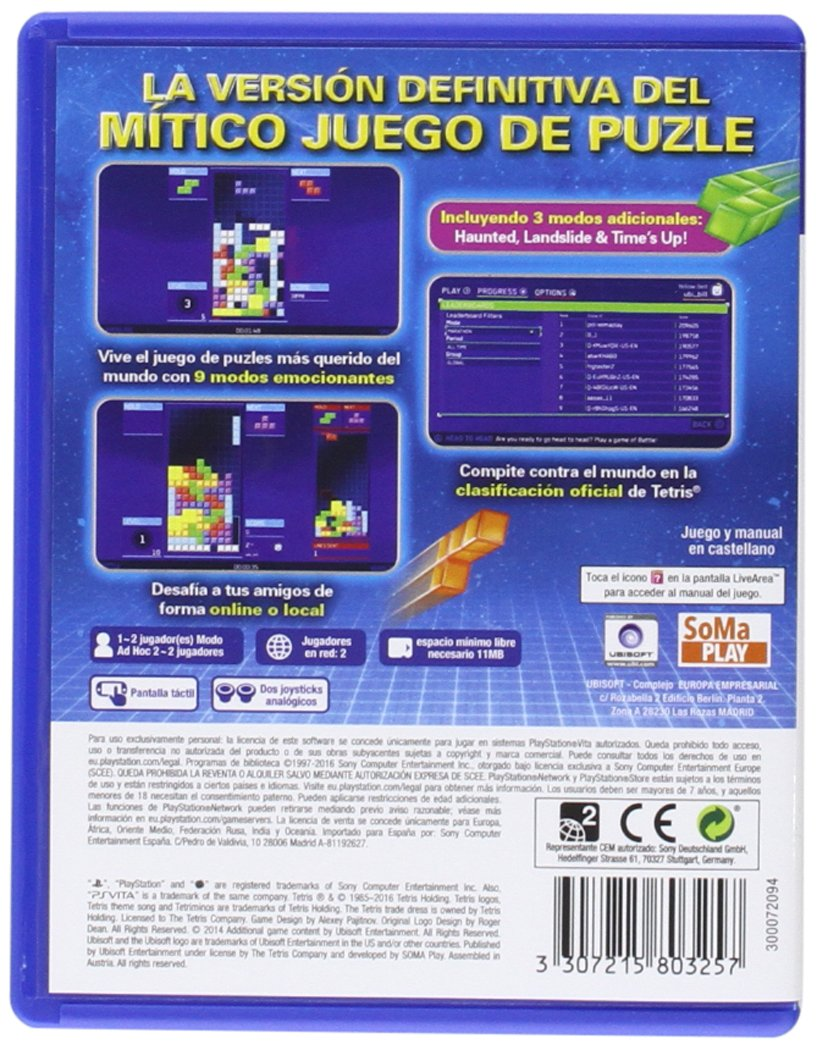 Tetris Ultimate  playstation vita  Amazon.es  Videojuegos f8868ea2f2520