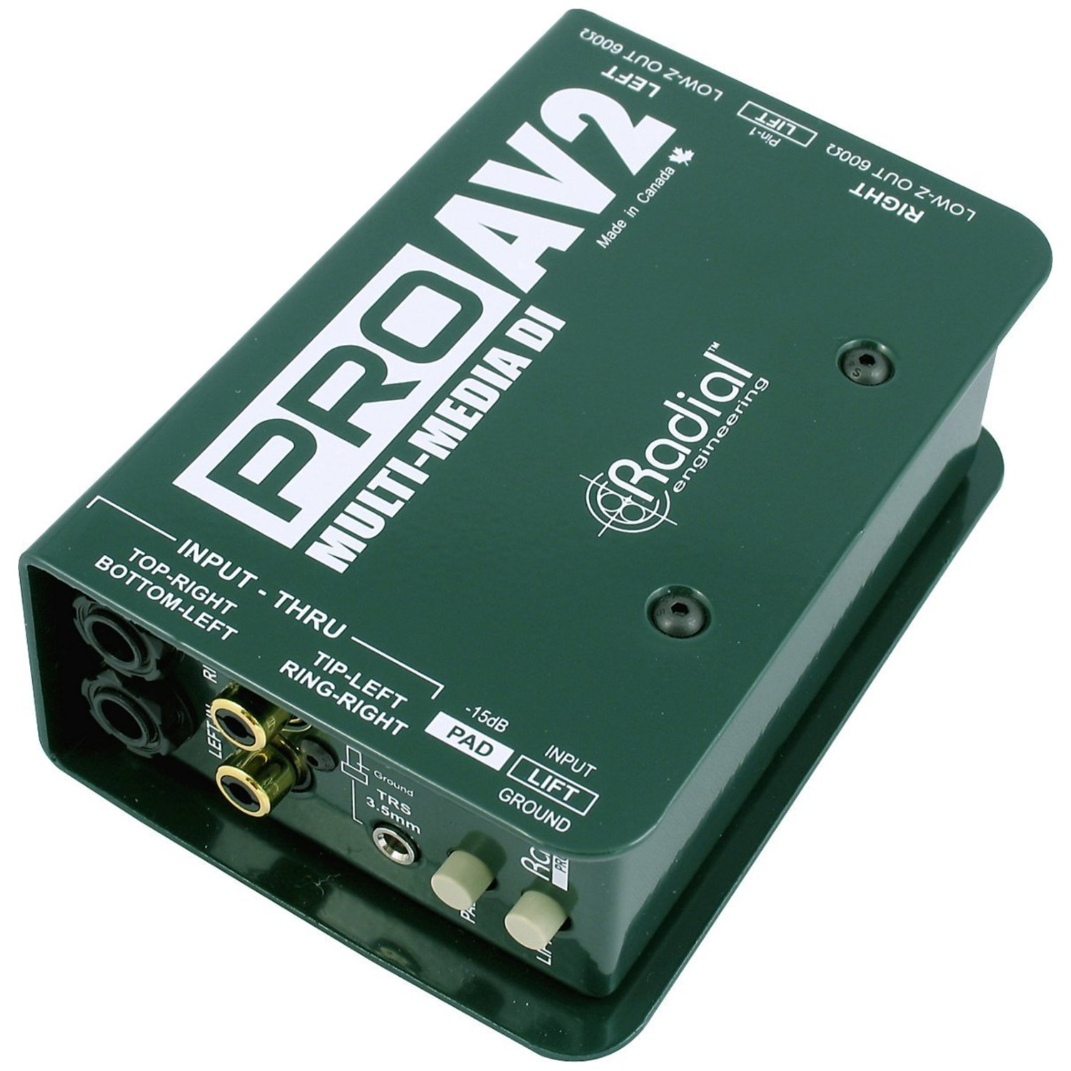 Radial PRO AV2 PROAV2 Direct Box Stereo RCA DI w/ Mic Cable by Radial (Image #2)