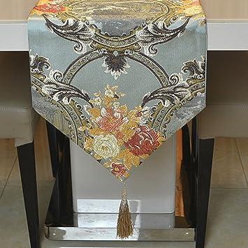 Mediterraner Stil Tischläufer Wunderschöne Schöne Geprägte Tischläufer  Europäischen Bronze Spiegel Blume Tisch Flagge Luxus Klassischen Tischläufer