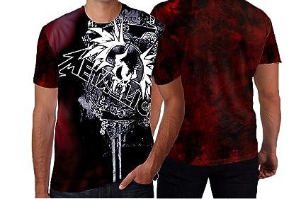 09653a2d586 Metallica American Heavy Metal Band Man T-shirt Fullprint Sublimation  (Small, Art1)