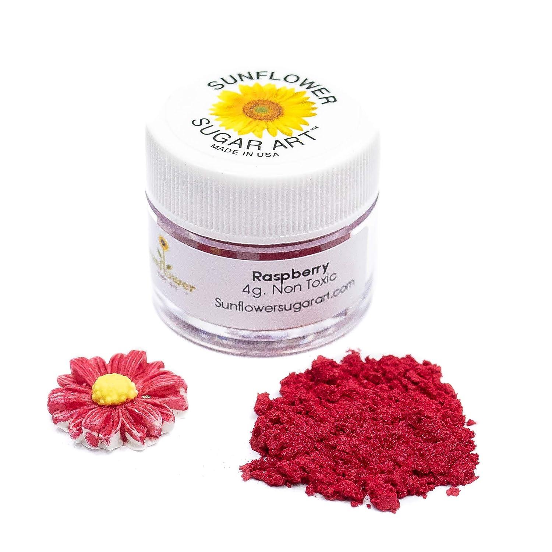 Raspberry Edible Luster Dust   Edible Powder & Dust   Food Grade Luster Dust for Decorating, Fondant, Baking   Polvo Matizador   Cakes, Vegan Paint, & Dust   Sunflower Sugar Art