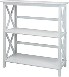 Casual Home 324-31 Montego 3-Shelf Bookcase, White