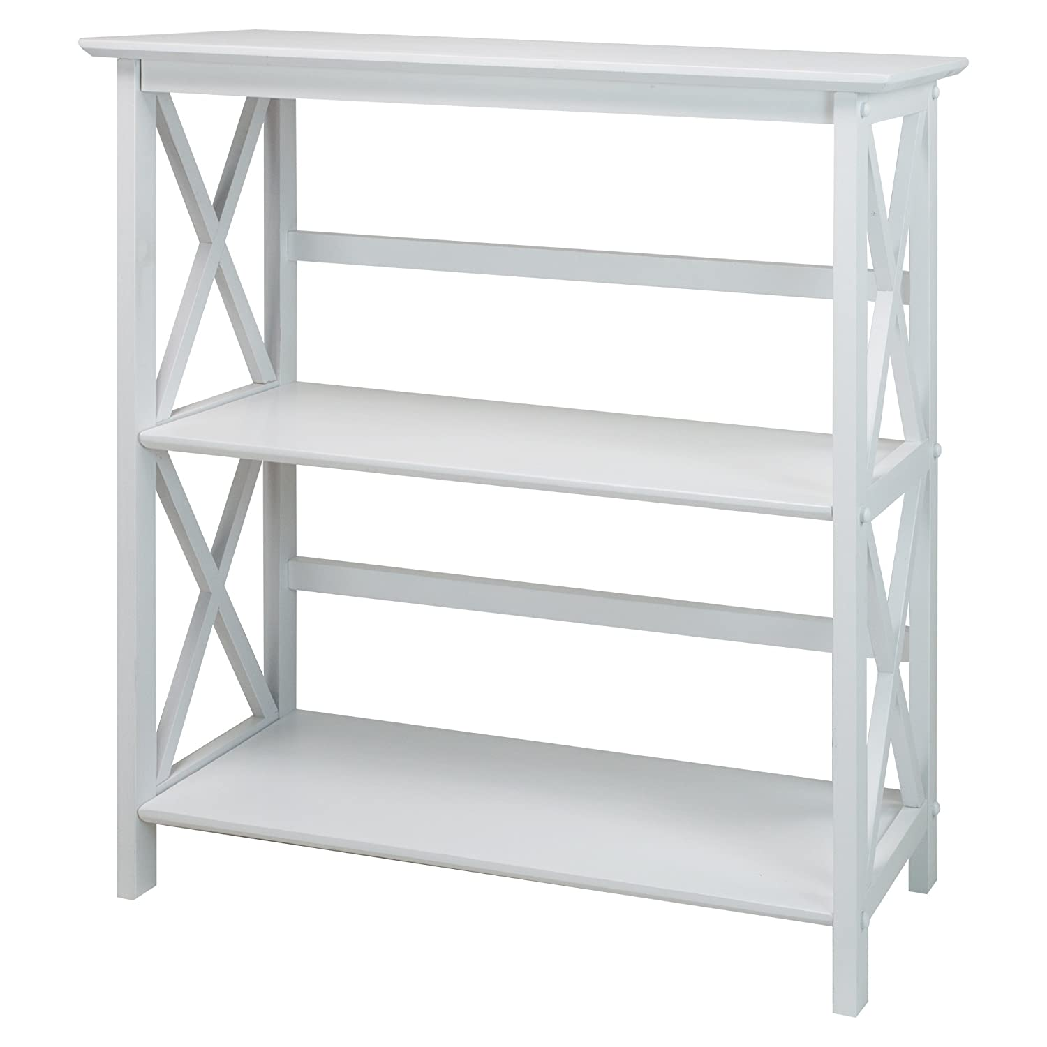 Casual Home Montego 3-Shelf Bookcase, White