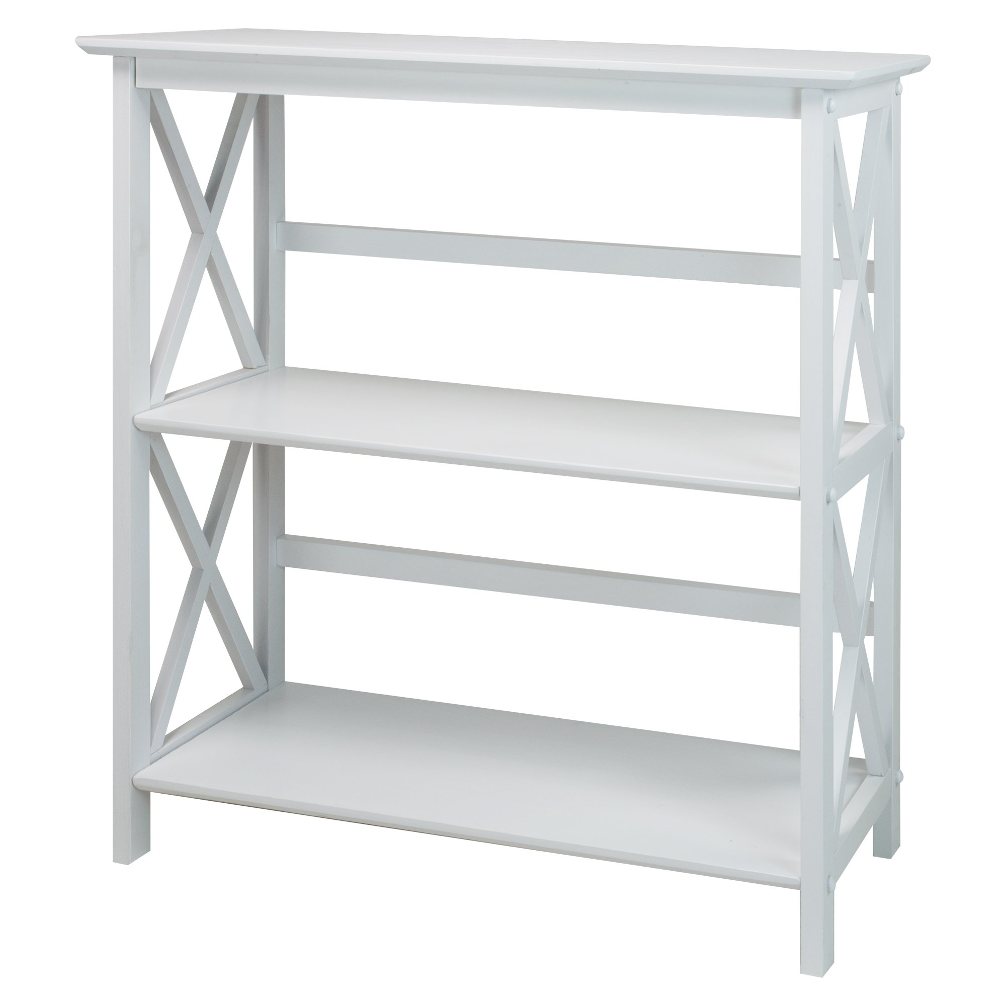 Casual Home 324-31 Montego 3-Shelf Bookcase, White