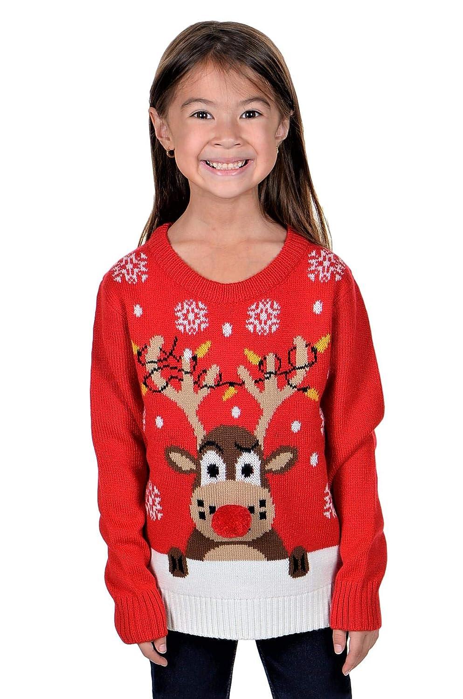 KESIS Children Rudolph Rein Deer Ugly Christmas Sweater