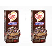 Nestle Coffee Mate Liquid Coffee Creamer, Snickers Coffee Creamer Singles, 50 Ct (2 Pack)