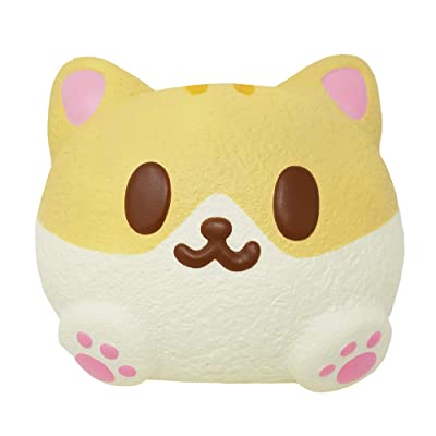 ibloom Kitty Pan Slow Rising Animal Cat Squishy Toy (Cannelle, Bread Scent, 9 Inch) [Easter Basket Stuffers, Party Favors for Kids, Stress Relief Toys for Adults]: Toys & Games