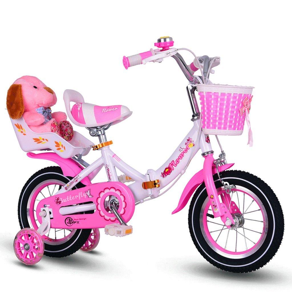 自転車 折りたたみ子供用自転車ガール12/14/16/18/20インチ (サイズ さいず : 12 inch) B07DYJW3JG12 inch