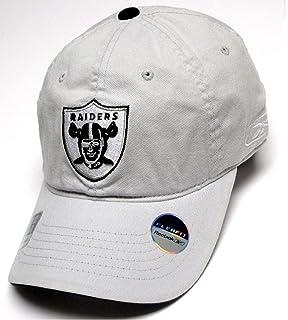db4c8e7201c11 Reebok Oakland Raiders NFL Gray Slouch Flex Hat Cap Silver Logo Adult Men s  OSFA