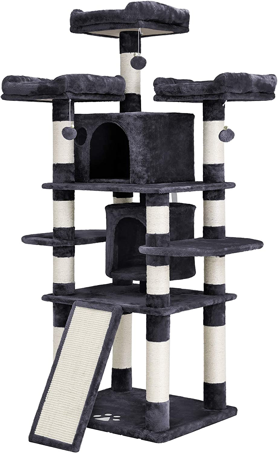 2. FEANDREA 67 Inches Multi-Level Cat Tree for Large Cats