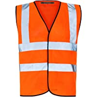 MyShoeStore Hi Vis Vest Yellow & Orange Small to 6XL 2 Band & Brace