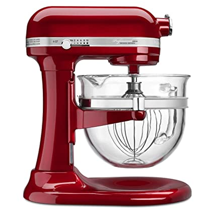 Stupendous Kitchenaid Ksm6521Xca Professional 6500 Design Series Candy Apple Red Bowl Lift Stand Mixer With 6 Quart Glass Bowl Home Remodeling Inspirations Propsscottssportslandcom