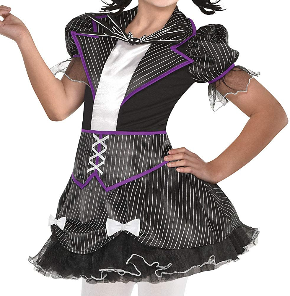 with Included Accessories Large The Nightmare Before Christmas Jack Skellington Halloween Costume for Girls