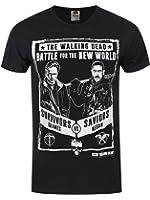 The Walking Dead Men39;s Grimes Vs Negan T-shirt Black
