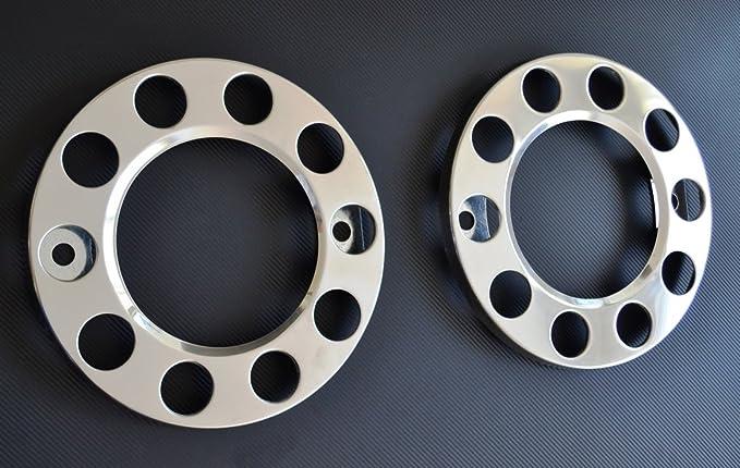 24/7Auto 2 x 22.5 Acero Inoxidable 10 Tacos Rueda Cubierta Exterior para camión Scania Hombre Mercedes DAF: Amazon.es: Coche y moto