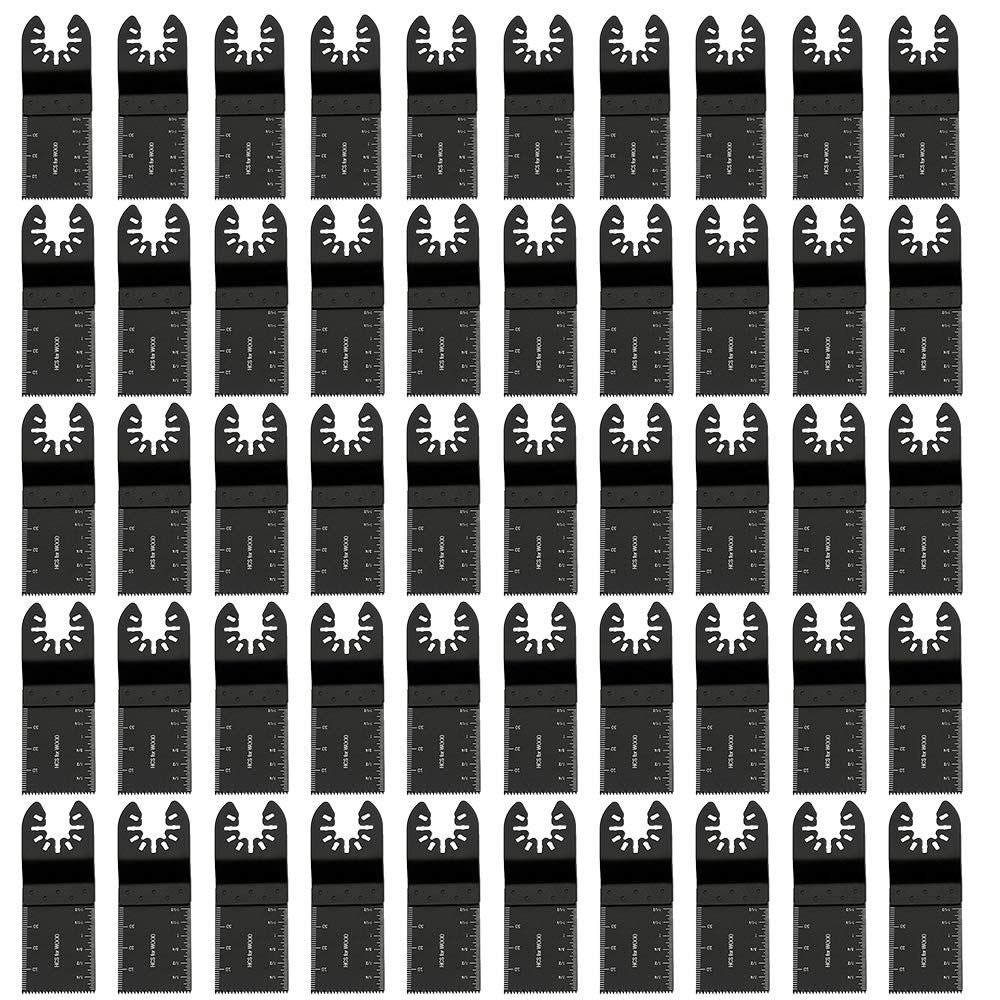 accesorios multiherramienta cierre r/ápido para Fein Multimaster bimetal artesanos Bosch y m/ás Juego de 50 hojas de sierra profesional Rockwell herramienta oscilante Makita