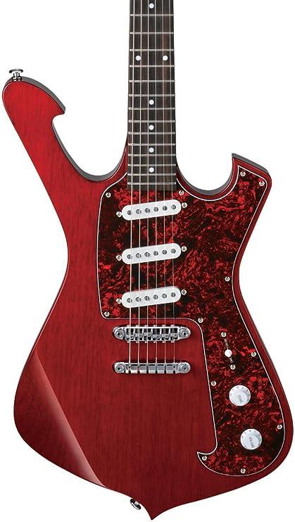Ibanez frm100tr Paul Gilbert Bombero acabado de la guitarra eléctrica, color rojo transparente