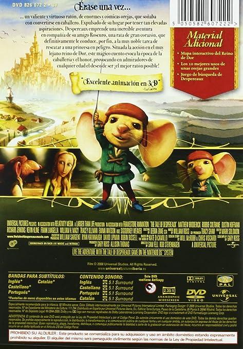 El Valiente Despereaux [DVD]: Amazon.es: Varios, Sam Fell, Robert Stevenhagen: Cine y Series TV
