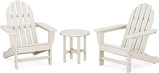 product image for POLYWOOD PWS417-1-SA Classic 3-Piece Chair Side Table Adirondack Seating Set, Sand