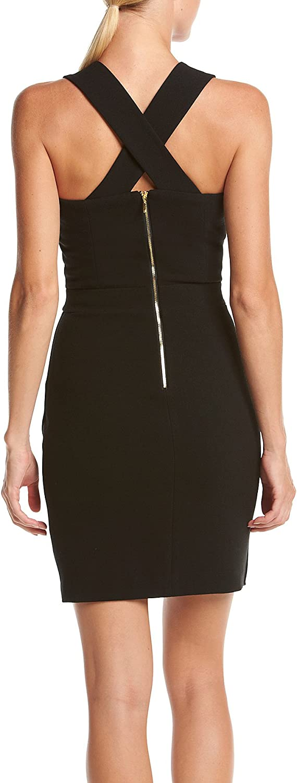 XOXO Womens 25 3//4 Asymmetrical Sheath Dress