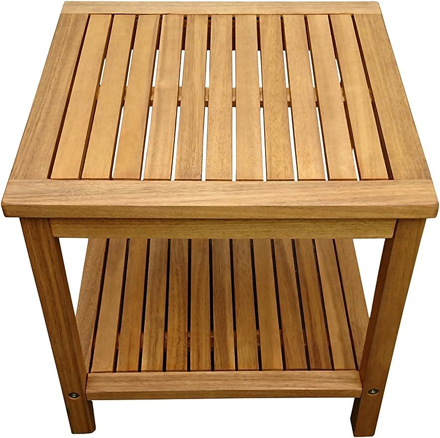 XXS® – Mesa auxiliar de madera de acacia, certificación FSC® 100%, Jardín De Mesa