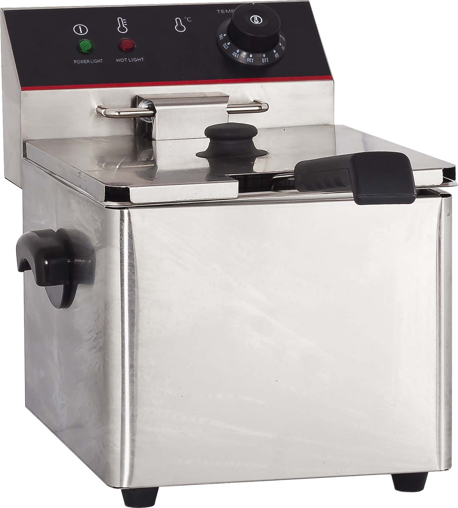 Hakka 8L Commercial Stainless Steel Deep Fryers Electric Professional Restaurant Grade Turkey Fryers (TEF-8L)