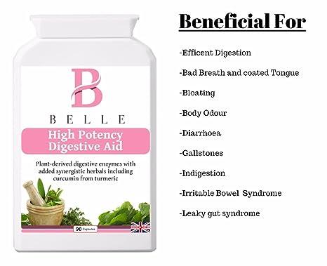 Belle® High Potency Digestive Aid - Con enzimas digestivas ...