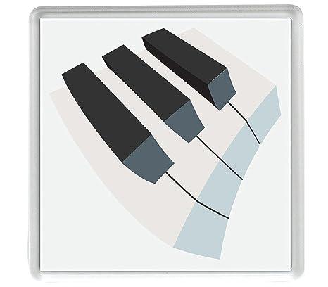 teclado musical Emoji Pack de 4 de 80mm x 80mm posavasos