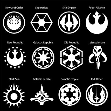 Amazon Star Wars Logos Car Decal Galactic Republic Die Cut