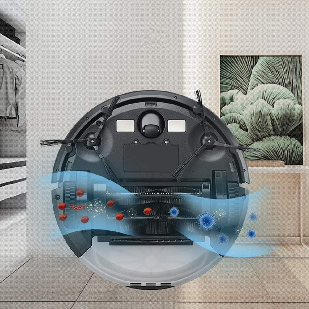 Aspirateur Robot, Autochargement Et Protection Anti-Chute Anti-Collision Navigation Dynamique Intelligente Aspirateur Robot, Blanc Blanc