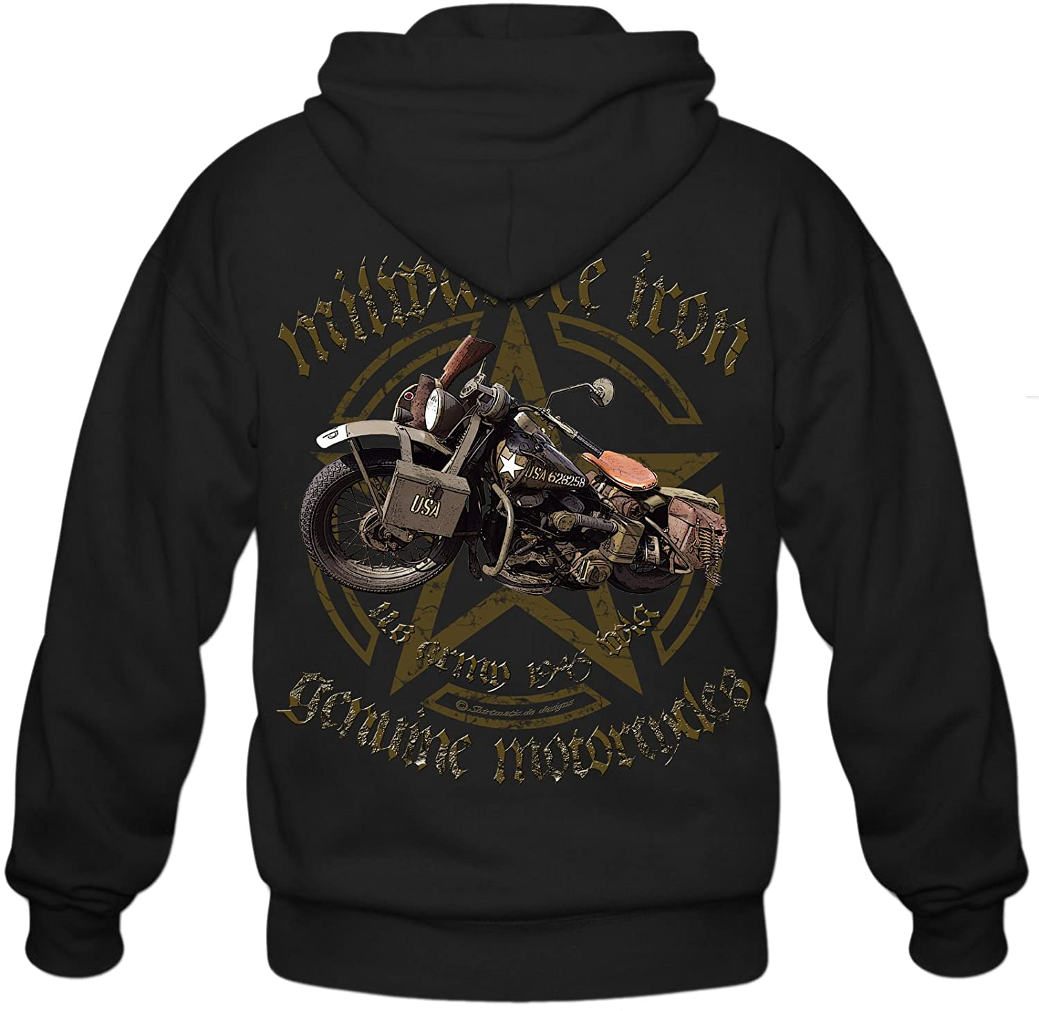 Shirtmatic Biker Sweatshirt Hoodie Milwaukee Iron Chopper Bobber V2 Motorrad
