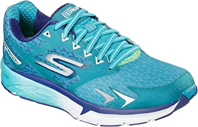 Skechers Performance Go Run Forza Los Angeles 2016 - Zapatillas de running para mujer, Verde (Verde azulado), 35 EU: Amazon.es: Zapatos y complementos