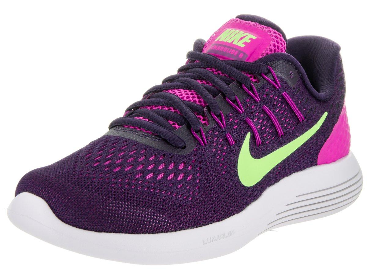 Nike Women's Lunarglide 8 Fire pink/Ghost Green Running Shoe 9 Women US