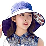 SIGGI Summer Bill Flap Cap UPF 50+ Cotton Sun Hat Neck Cover Cord Women