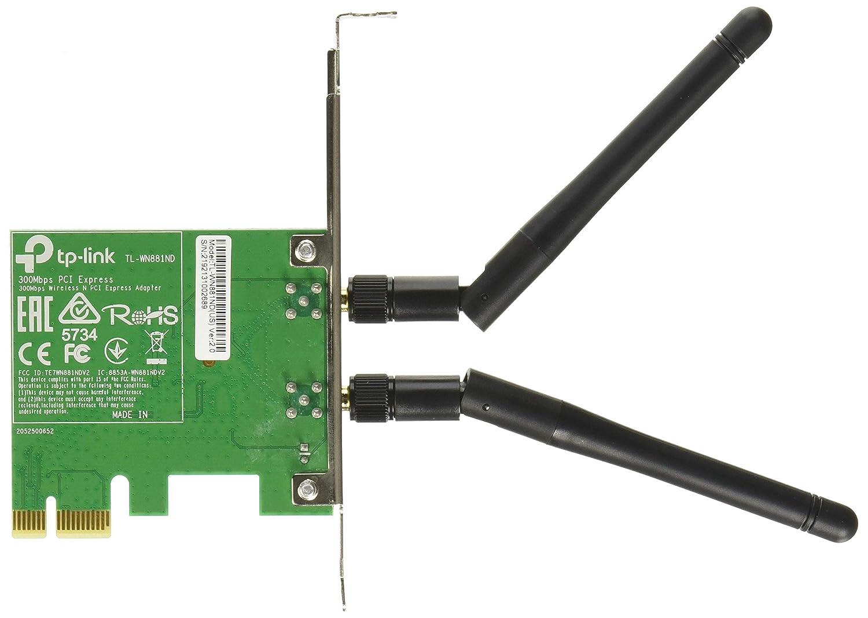 TP-LINK TL-WN881ND Adaptador y Tarjeta de Red - Accesorio de Red (Inalámbrico, PCI-E, WLAN, 300 Mbit/s, IEEE 802.11b, IEEE 802.11g, IEEE 802.11n, ...