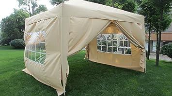 MCombo EZ Pop Up Wedding Party Tent Folding Gazebo C&ing Canopy with Sides 10u0027 & Amazon.com : MCombo EZ Pop Up Wedding Party Tent Folding Gazebo ...
