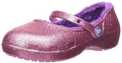 016127d6bcf2 Crocs Girls Karin Sparkle Lined Clogk Clog Party Pink 6 M US Toddler