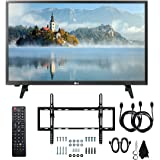"LG 28LJ400B-PU 28"" Class HD 720p LED TV (2017 Model) with Slim Flat Wall Mount Kit and Two (2) 6 Foot HDMI Cables Ultimate Bundle"