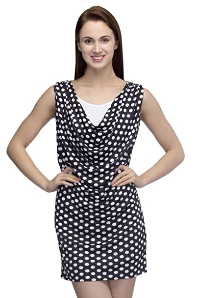 18toeightys Black   White Dotted Dress  Amazon.in  Clothing   Accessories 7901741aa