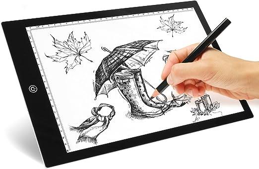 MVPOWER Tablero A4 de LED de Dibujo Mesa de Luz para Dibujo con ...
