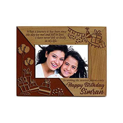 buy presto personalised laser beechwood engraved wooden frame with