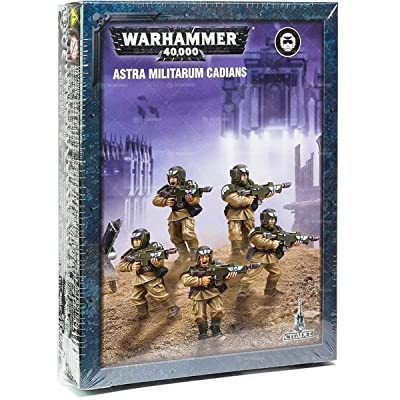 "Games Workshop 99120105071"" Easy to Build Astra Militarum Cadians Plastic Kit: Toys & Games"