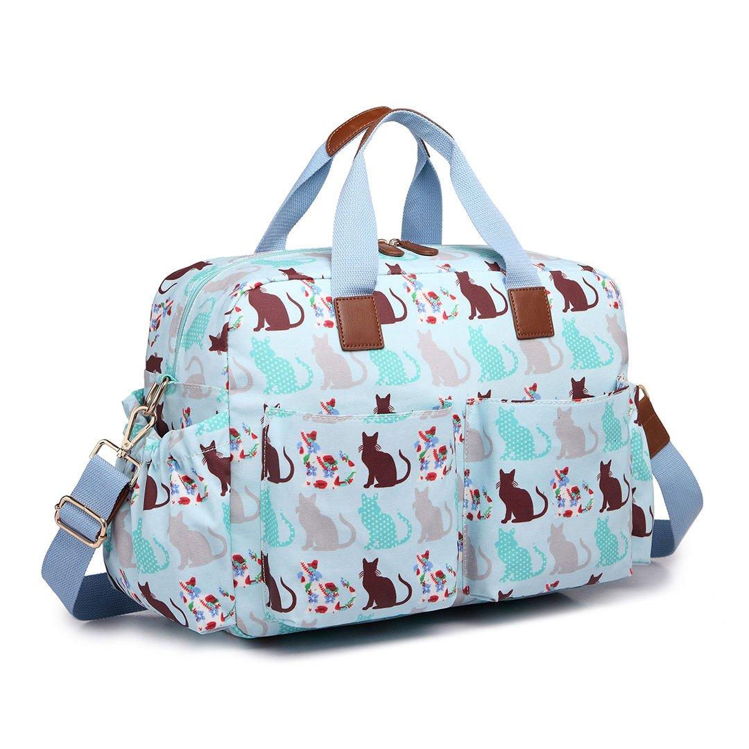 Miss Lulu 4/PCS Baby Windel Windel Wickeltasche Set gro/ße Tragetasche Handtasche Schmetterling Blume Polka Dots Elefant Hund Katze Vogel Print
