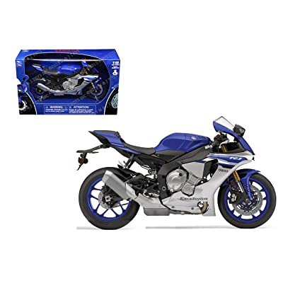 New Ray Toys 57803A 1:12 Scale Sport Bike - Yamaha YXF-R1 2016 - Blue: Toys & Games