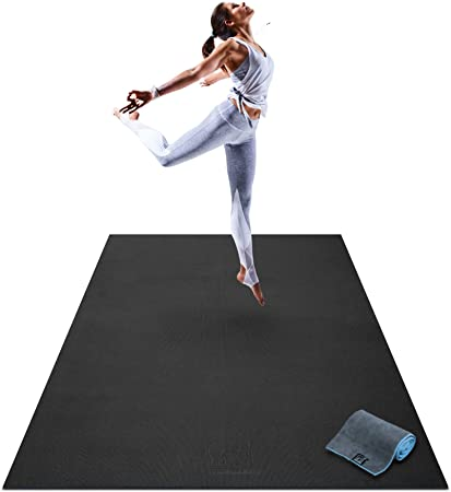 Amazon Com Premium Large Yoga Mat 6 X 4 X 8mm Extra Thick Comfortable Non Toxic Non Slip Barefoot Exercise Mat Yoga Stretching Cardio Workout Mats For Home Gym Flooring 72