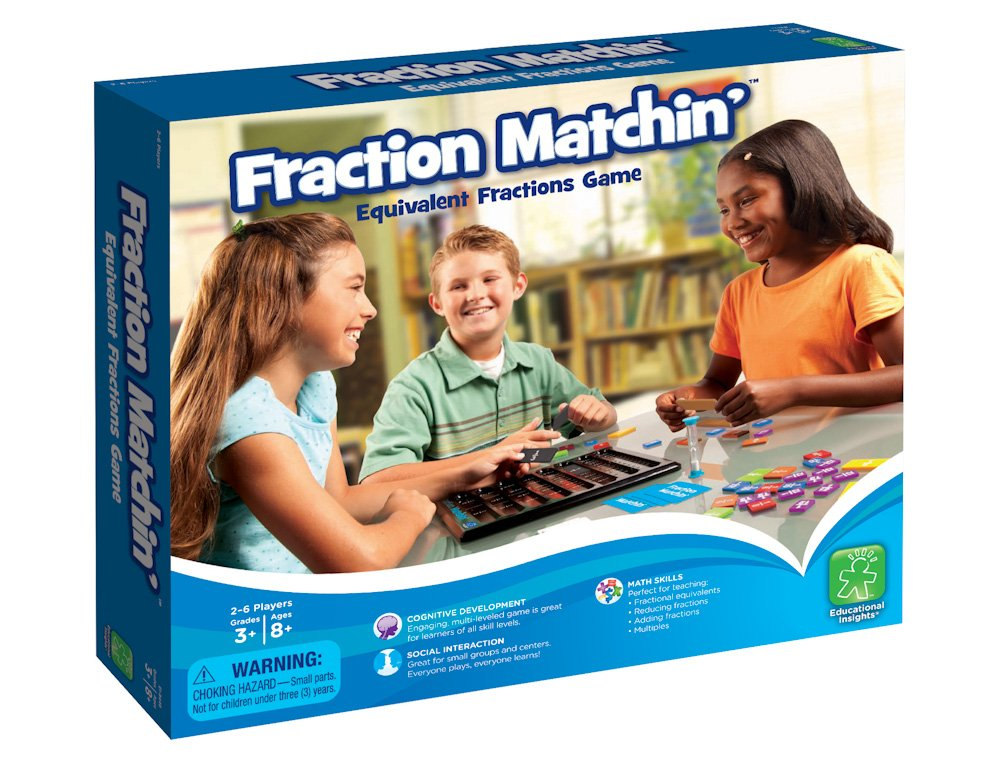 Amazon.com: Educational Insights Fraction Matchin\': Toys & Games