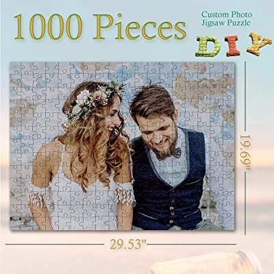 Custom Puzzle with Your Photo 1000 Pieces Jigsaw Puzzle Personalized Puzzles Adult, Remember The Good Moment in Your Life DIY Gift Anniversary Romantic Wedding Gifts for The Couple: Toys & Games